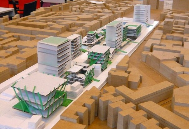 Antwerp Model Masterplan 1000 Dwellings Cardiff And Jersey Architects