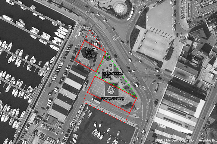 CARDIFF ARCHITECTS JERSEY ARTS CENTRE SITE PLAN ST HELIER JERSEY ARCHITECTS