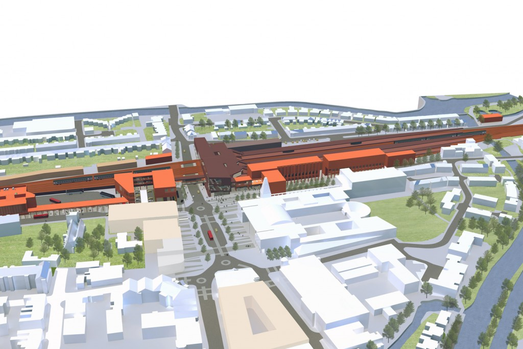 Oxford Trainstation Masterplan Birdseyeview Cardiff Architects Jersey