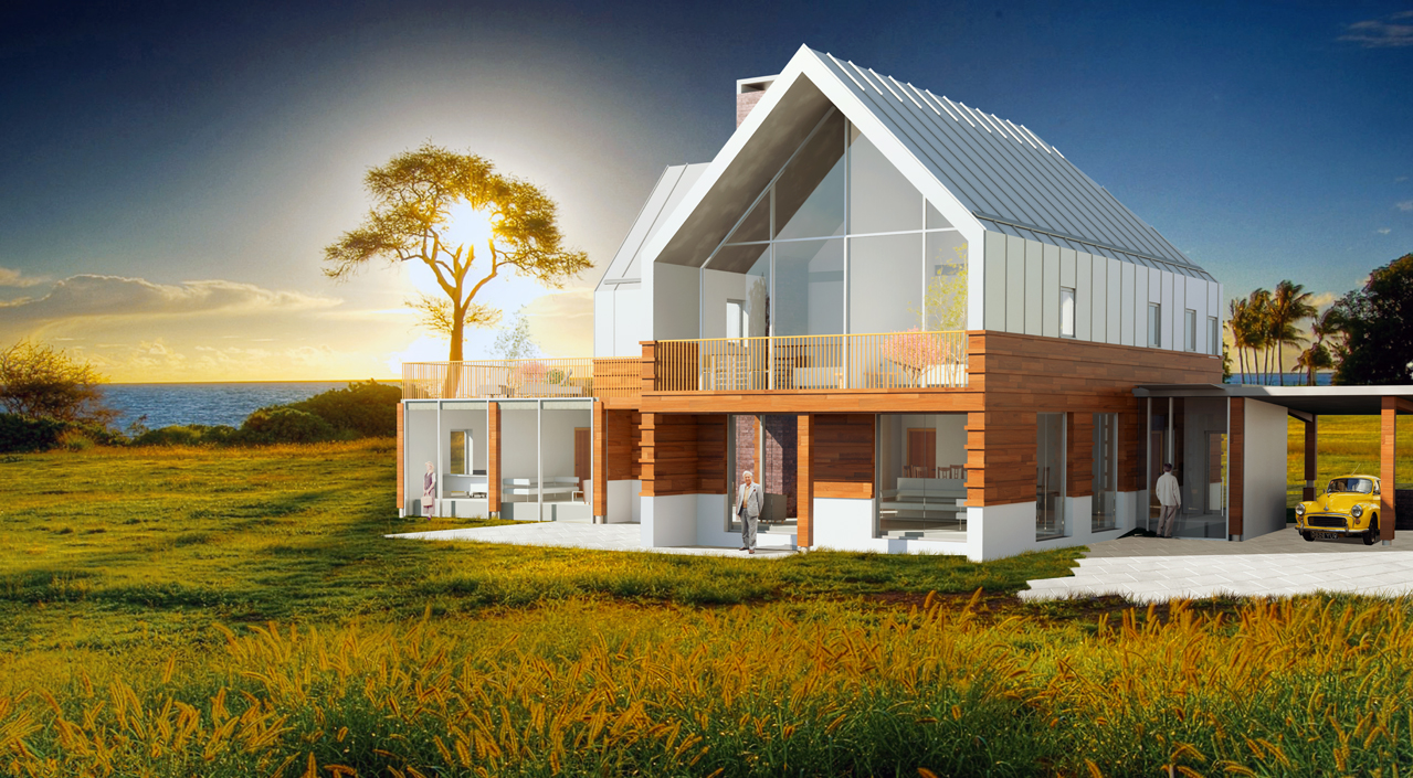 Contemporary farm house nick socrates architecture Contemporary house designs uk