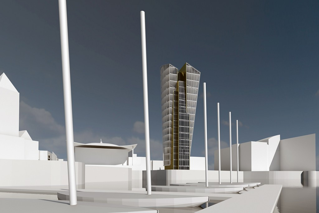 TOWER PROPOSAL - CARDIFF BAY - CARDIFF ARCHITECTS