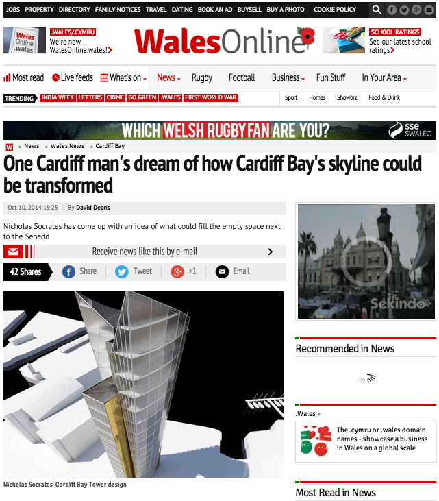 One Cardiff architects's dream of how Cardiff Bay's skyline could be transformed - Wales Online