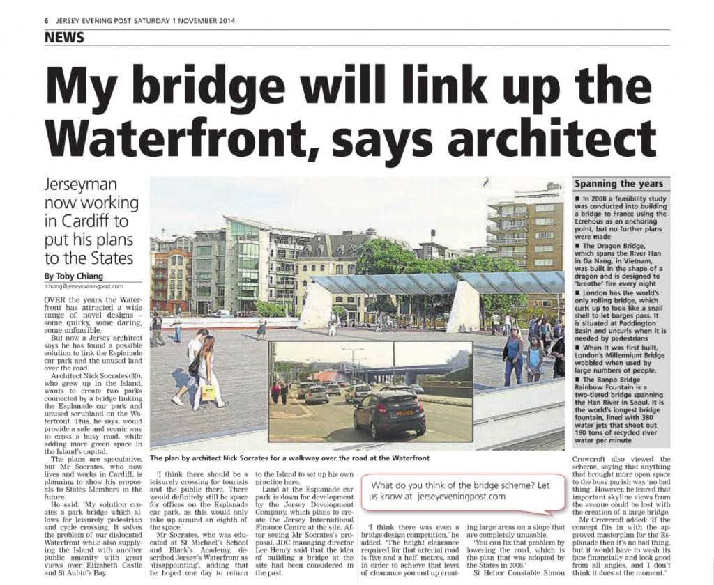 St Helier Park Bridge Jersey Architect