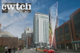 Cardiff Residential Tower - street render - architects Cardiff