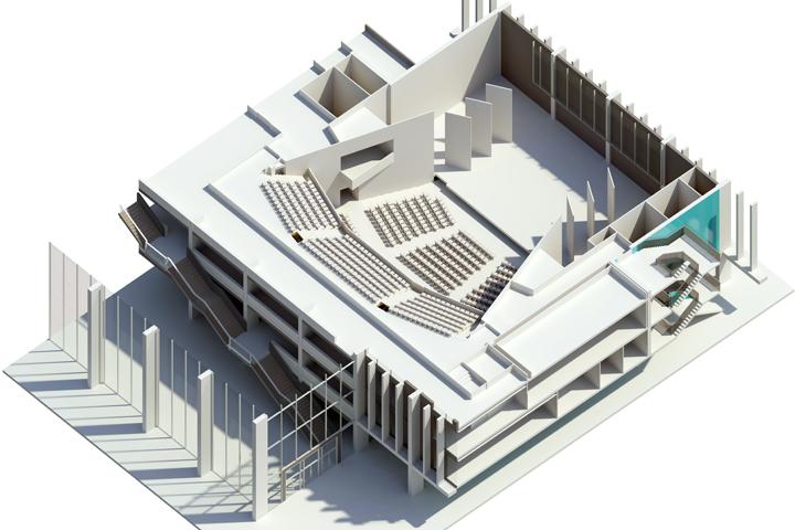 jersey secondary school auditorium architects
